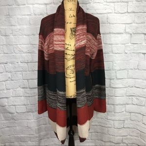 ONE A | Striped Cardigan w/ Front Clasp | S/M
